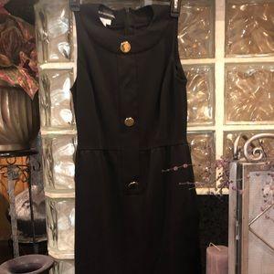 Donna Morgan black dress w/gold buttons